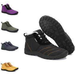 Winter Snow Boots Warm Fur-lined Cotton Shoes for Men Women