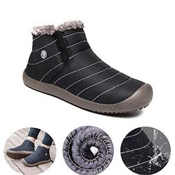 Growsun Mens Women's Winter Snow Boots Water Resistant Booti