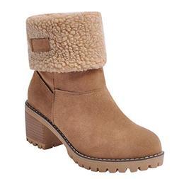 Mysky Winter Women Warm Short Plush Rome Boots Ladies Casual