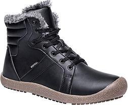 JIASUQI Womens Outdoor Winter Waterproof Warm Boots Sneakers