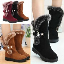 winter women ladies snow boots fashion fur