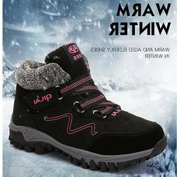 Winter Women's Boots Warm Plus Velvet Snow Boots Suede Ankle