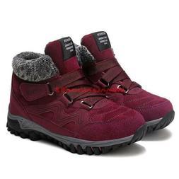 Winter Womens Warm Fur Snow Boots Sneakers Hiking Comfort Ca