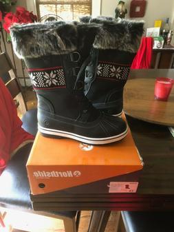 Northside Women Bishop Snow Boots Black Size - 8