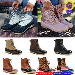 Women Duck Boots Ankle Rain Shoes Waterproof Winter Snow Boo