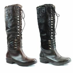 Nature Breeze Women Lace Up Snow Rain Boots Waterproof Fur I