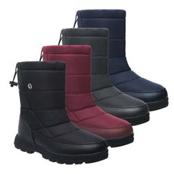 Women Plus Size Winter Snow Boots Warm Fur Waterproof Mid Ca
