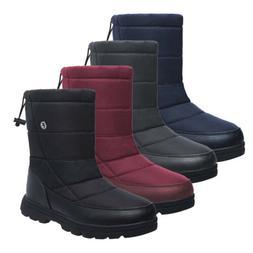 Women Plus Size Winter Snow Boots Warm Fur Waterproof Mid Ca