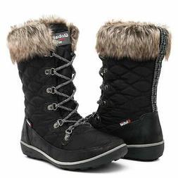 GLOBALWIN Women's 1731 Black Winter Waterproof Snow Boots 6M