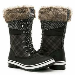 GLOBALWIN Women's 1733 Black Winter Snow Boots 6.5M