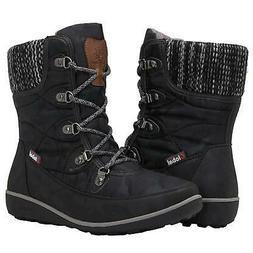GLOBALWIN Women's 1839 Winter Snow Boots, 1841black, Size 6.