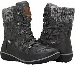 GLOBALWIN Women's 1839 Winter Snow Boots, 1841grey, Size 7.5