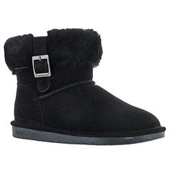 BEARPAW Women's Abby Snow Boot,Black,9 M US