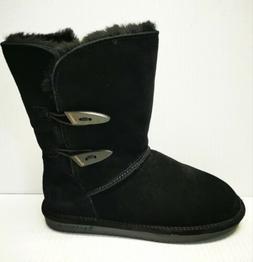 Bearpaw Women's Abigail Black Snow Winter Boots Shoes Size 8