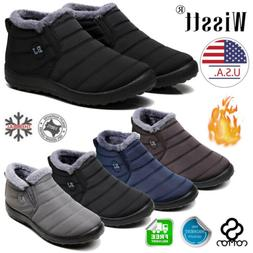 Women's Ankle Shoes Warm Wool Lining Flat Ankle Snow Boots W
