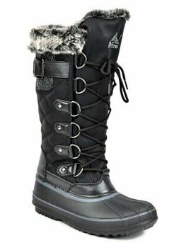 arctiv8 Women's Avalanche Black Knee High Winter Snow Boots