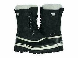 Sorel Women's Black, Stone Caribou Winter Snow Waterproof Bo
