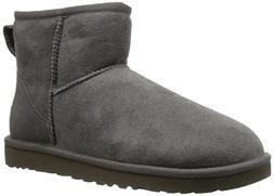 UGG Women's Classic Mini Grey Boot 8 B - Medium