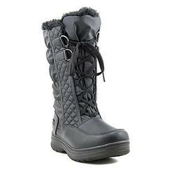 TOTES Women's Double Zip Donna Waterproof Winter Snow Boots