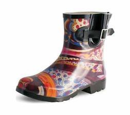 Nomad Women's Droplet Rain Boot Turquoise Monet Waterproof