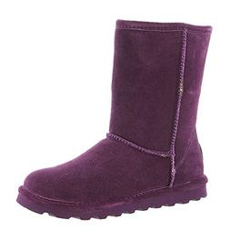 BEARPAW Women's Elle Short Winter Boot Plum Size 8