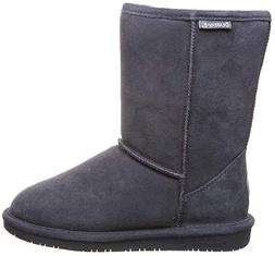 BEARPAW Women's Emma Short Boot,Charcoal,5 M US