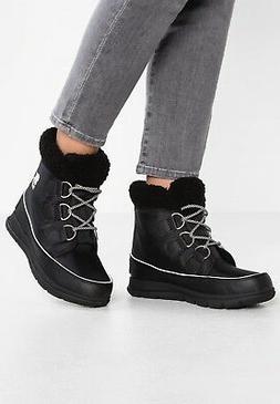 SOREL Women's Explorer Carnival Snow Boots, Black SIZE 10 US
