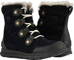 SOREL Women's Explorer Joan Boot Black/Dark Stone Size 7.5 M