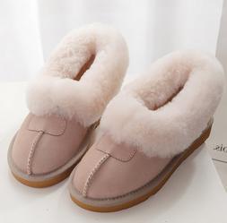 Women's Faux Fur Lining Flats Pull On Winter Warm Booties An
