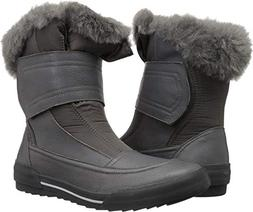 CLARKS Women's Gilby Merilyn Snow Boot, Grey Leather, 075 M