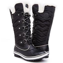 Kingshow Women's Globalwin Black1711 Waterproof Winter Boots