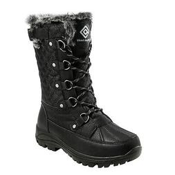 DREAM PAIRS Women's Warm Faux Fur Lined Snow Boots Insulated