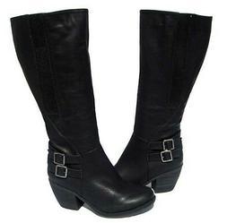 Women's Knee High Fashion BOOTS Hoshi-12 Black Winter Snow s