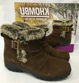 Khombu Women's LINDSEY Winter Snow BROWN Boots -20 Rated NEW