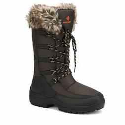 DREAM PAIRS Women's Maine Brown Knee High Winter Snow Boots