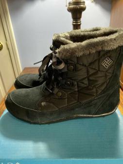 Columbia Women's Minx Shorty Omni-Heat Snow Boot Size 10 Bla