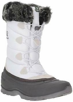 Kamik Women's MOMENTUM2 Snow Boot, white, 9 Medium US