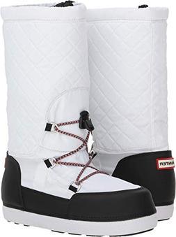 Hunter Women's Original Quilted Snow Boots White/Black 8 M U