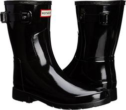 Hunter Women's Original Refined Short Gloss Black Boot