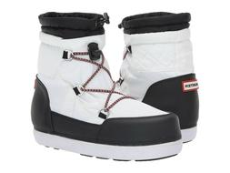 Hunter Women's Original Short Quilted Snow Boots White/Black