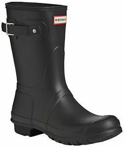 Hunter Women's Original Short Rain Boot,Black Matte,10 B US