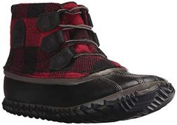 Sorel Women's Out N About Leather Rain Snow Boot, Black, Mud