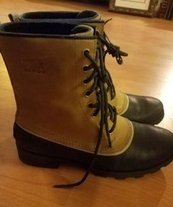 Sorel Women's Out N About Waterproof Rain Snow Boots Leather
