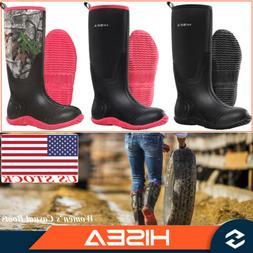 HISEA Women's Rain & Snow Boots Insulated Winter Rubber Muck