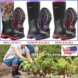 HISEA Women's Rain Snow Boots Wellies Breathable Muck Workin