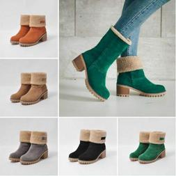 Women's Shoes boots Ladies For Winter, Snow Flock and Warm B