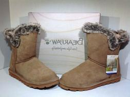 Bearpaw Women's Size 11 Addilyn Beige Suede Lined Winter Sno
