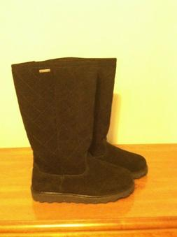 Bearpaw Women's Size 9 Elle Tall Black Suede Lined Winter Sn