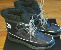 Women's Sorel Snow Boots Black Size 8.5 Brand New NWT in Box
