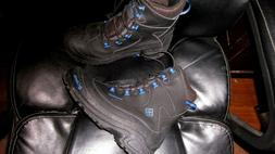 Columbia women's snow boots Ice  SZ 7 NEW Black with blue ac